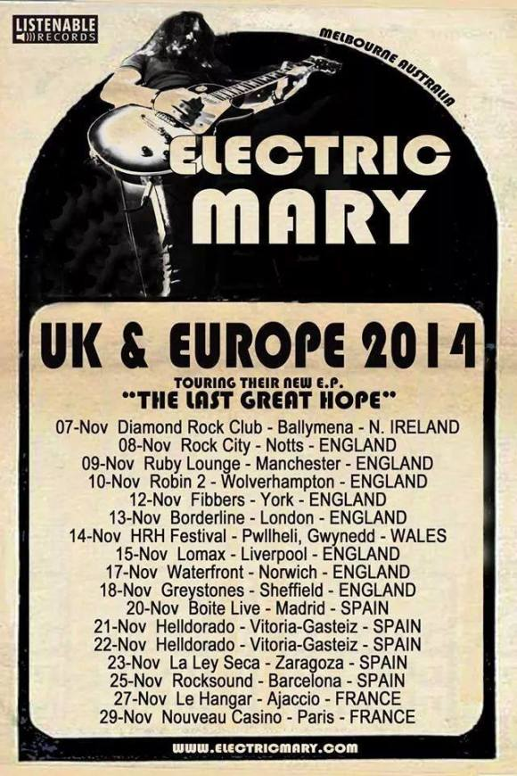 electric mary tour
