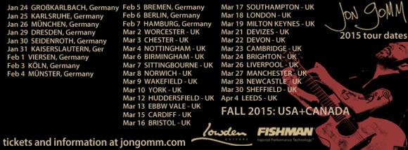 jon gomm 2015 tour